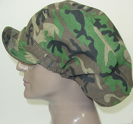 Billed Hat - Camouflage Green (Unisex - His) Reversible