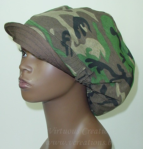 Billed Hat - Camouflage Green (Unisex-Hers) Reversible