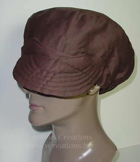 Billed Hat-Chocolate Brown -Unisex-His