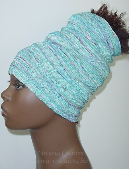 Aztec - Light Blue, Pink, Green And White