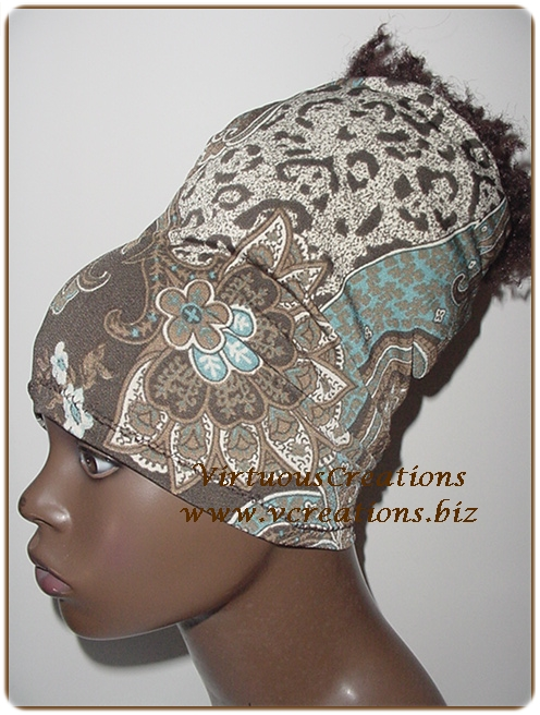 Paisley and Animal Print-Brown, Blue & Ivory