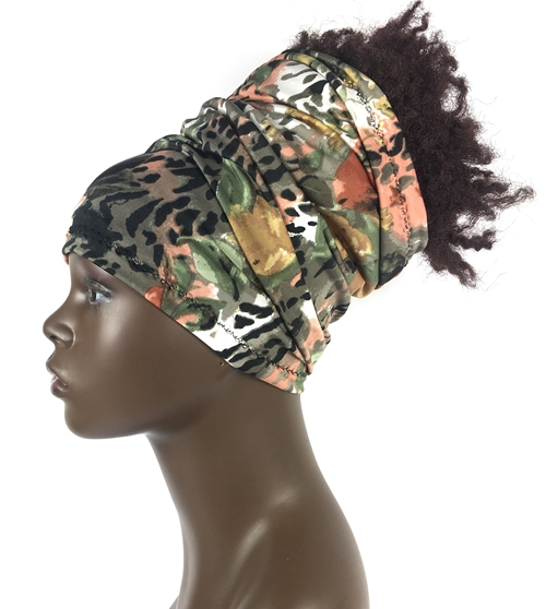 Floral - Cheetah, Rust, Green, Black