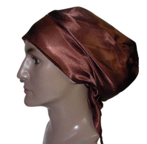 Satin Bonnet (Brown-Unisex-His) Satin Sleep Bonnet