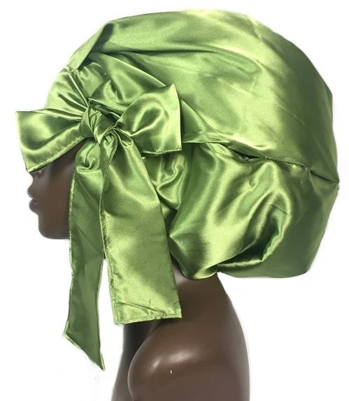Satin Bonnet (Lime Green) Satin Sleep Bonnet