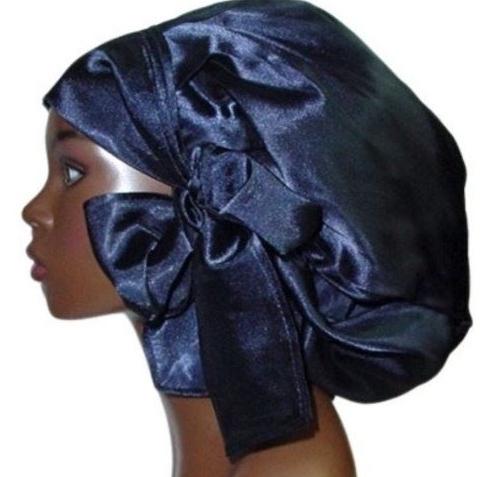Satin Bonnet (Navy Blue-Unisex-Hers) Satin Sleep Bonnet