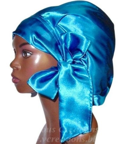 Satin Bonnet (Sapphire Blue) Satin Sleep Bonnet
