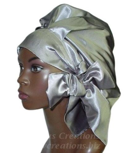 Satin Bonnet (Silver-Unisex-Hers) Satin Sleep Bonnet