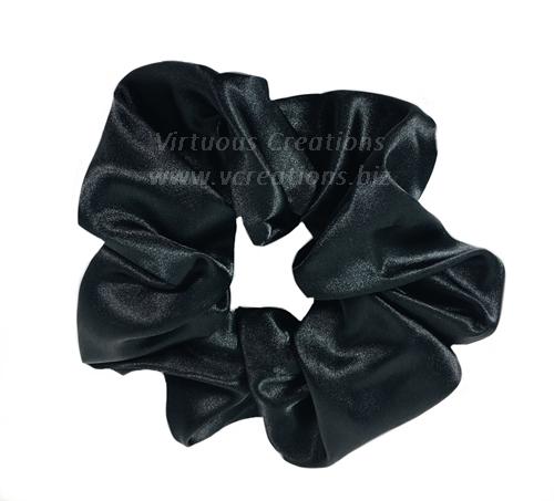 Satin Scrunchies (Black) Satin Scrunchy