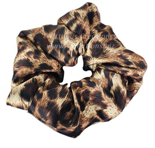 Satin Scrunchies (Cheetah Taupe) Satin Scrunchy