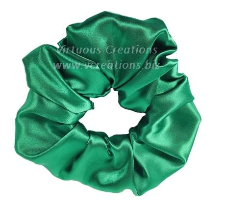 Satin Scrunchies (Emerald Green) Satin Scrunchy