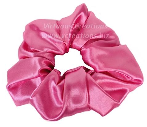 Satin Scrunchies (Pink Fuchsia) Satin Scrunchy