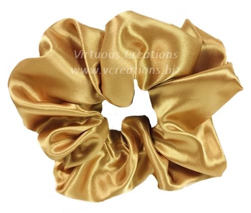 Satin Scrunchies (Gold) Satin Scrunchy