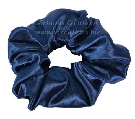 Satin Scrunchies (Navy Blue) Satin Scrunchy