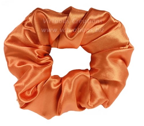 Satin Scrunchies (Orange/Tangerine) Satin Scrunchy