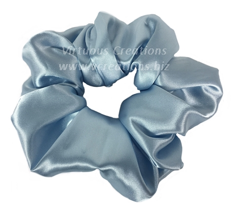 Satin Scrunchies (Light Blue) Satin Scrunchy