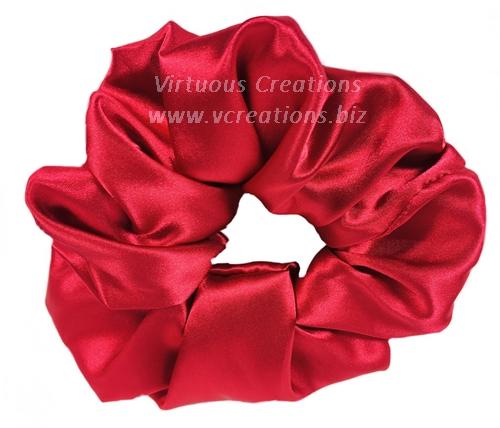Satin Scrunchies (Red) Satin Scrunchy