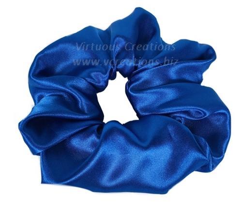 Satin Scrunchies (Sapphire Blue) Satin Scrunchy