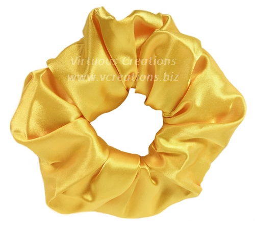 Satin Scrunchies (Yellow) Satin Scrunchy